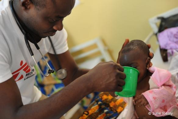 Niger, région de Maradi, mars 2012. Centre nutritionnel thérapeutique MSF à Guidan Roumji.