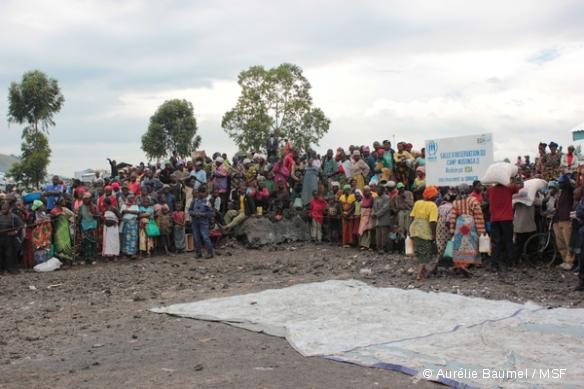 Distribution alimentaire dans le camp de mugunga III