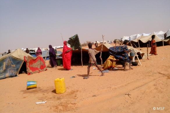 Réfugiés maliens à Fassala, en Mauritanie. Janvier 2013.