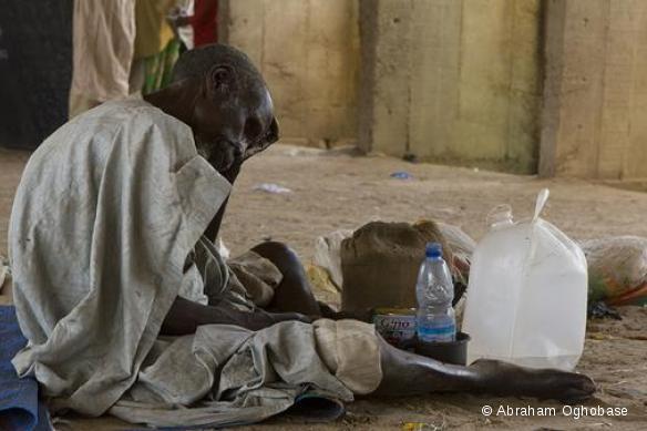 Homme déplacé par les violences dans l'Etat de Borno, nord-est du Nigeria