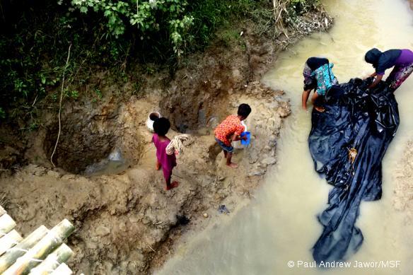 Camp de fortune d'Unchiparang, au Bangladesh, septembre 2017