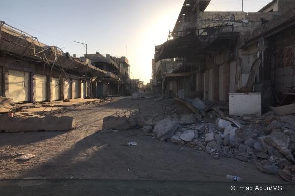 Rues de Mossoul-Ouest détruites, octobre 2017