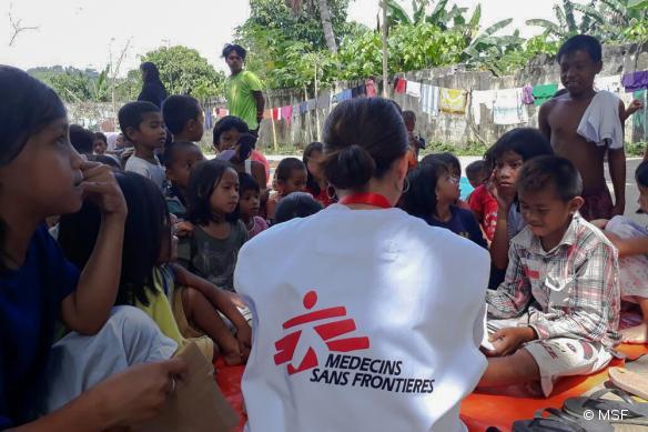 MSF organise également des activités de soutien de santé mentale pour les enfants.