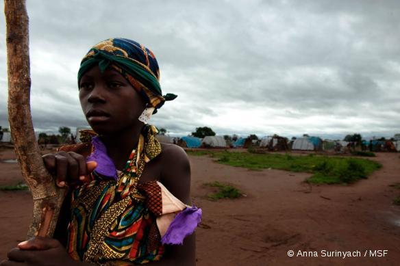 Camp de déplacés de Kabo où intervient MSF