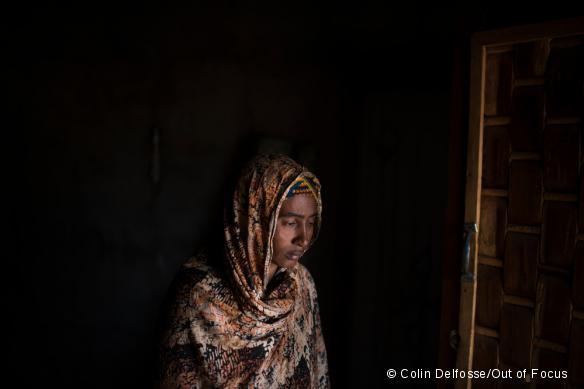 Adama, dont le mari a été tué le 21 novembre 2016, vit dans le quartier à majorité peul de Gobolo, à Bria : « Sans mon mari, je ne sais pas comment je vais pouvoir nourrir ma famille. »