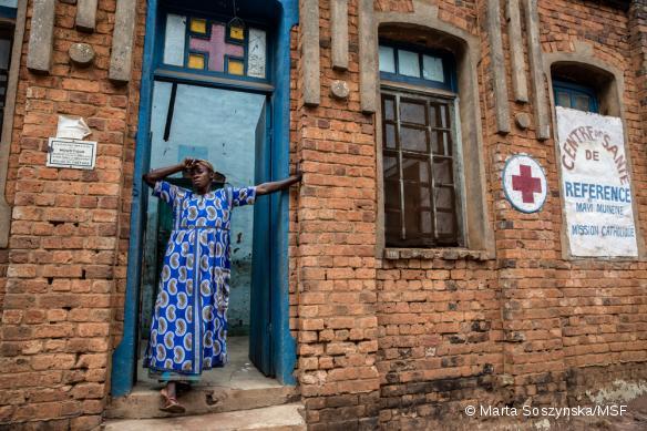 Le centre de santé de Mayi Munene, dans la région du Kasaï, RDC, en septembre 2017.