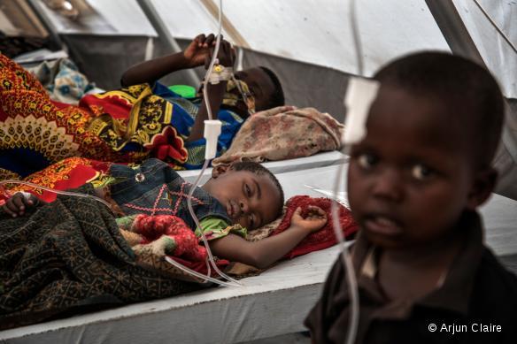 Centre de traitement du choléra à Minova, dans la province du Sud-Kivu. RDC, août 2017
