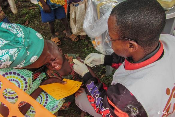 Les équipes MSF ont vacciné 4165 enfants contre la rougeole dans la zone de Mulungu, au Sud Kivu, en République démocratique du Congo.