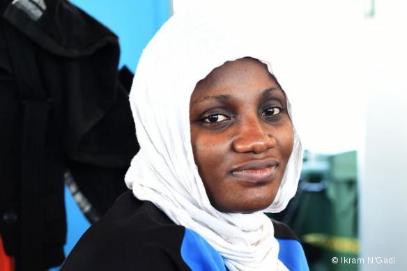 Sandra, originaire du Nigeria, a été sauvée le 13 mai par le MY Phoenix.