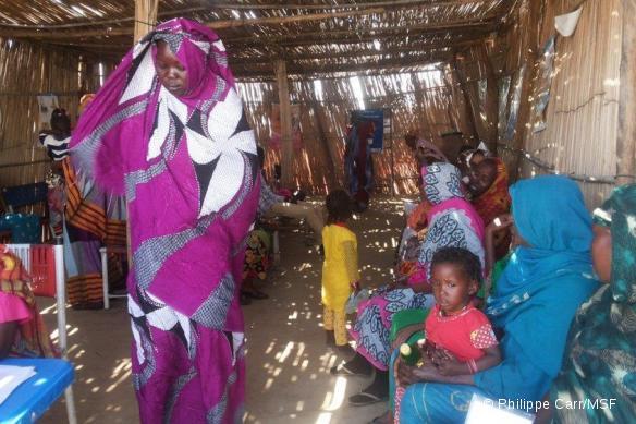 L'hôpital MSF dans le camp d'El Kachafa où plus de 17 000 réfugiés ont été autorisés à s'installer.