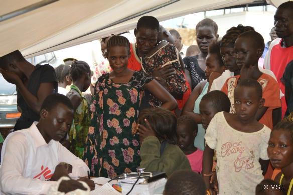 Une clinique mobile à Gudele, Juba, Soudan du Sud, le 13 juillet.