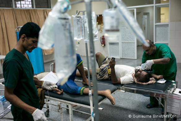 L'hôpital MSF d'Aden, où Tatiana a travaillé, photographié en juillet 2015.