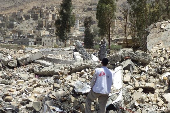 L'hôpital d'Haydan, dans le nord du pays, détruit dans un bombardement en mars 2016