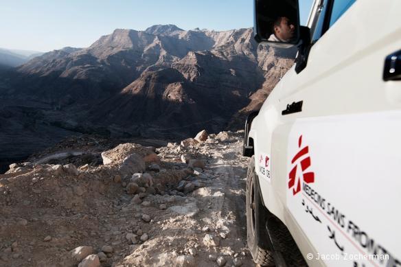 Près de Khamir, dans le gouvernorat d'Amran, où MSF mène des activités médicales. 2013