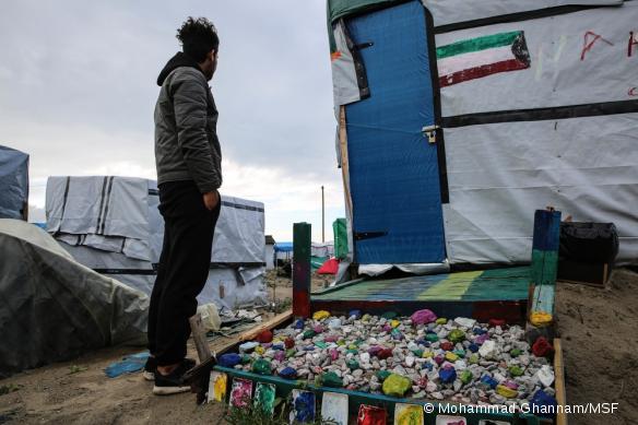 Zulfaqar, jeune migrant irakien réfugié dans la Jungle de Calais.