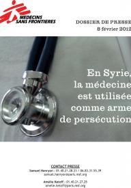 Dossier de presse Syrie - 8 février 2012