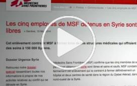 Syrie : cinq employés de MSF libres après 5 mois