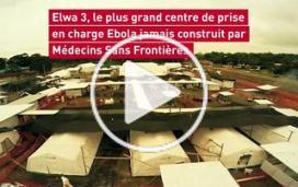Clip aérien du plus grand centre de traitement Ebola au Liberia