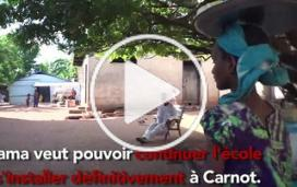 Adama, jeune déplacée dans l'enclave de Carnot, en République centrafricaine