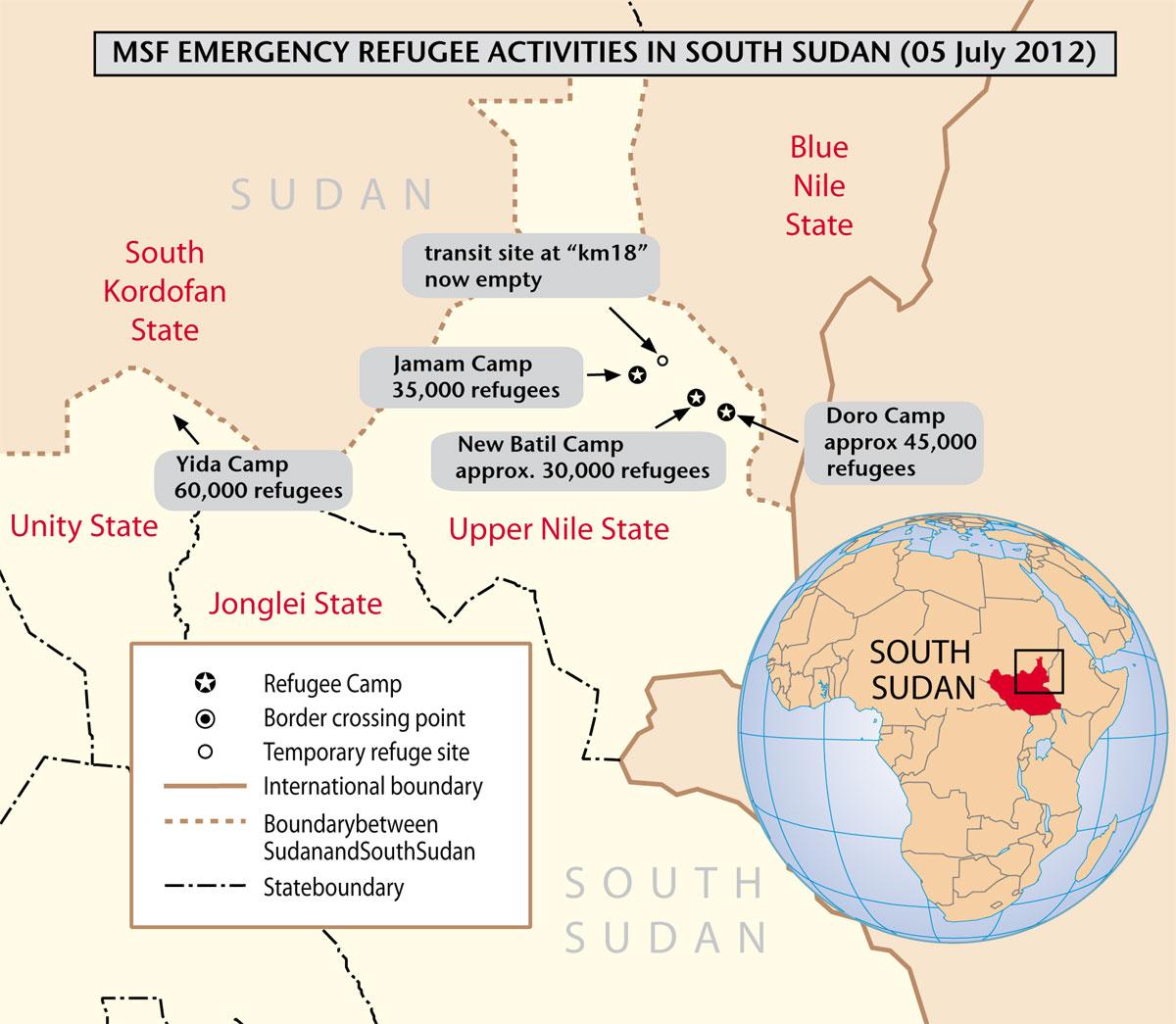 Activités de MSF dans les camps de réfugiés
